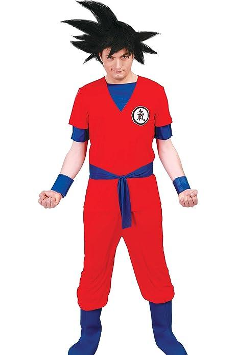 Disfraz de Hombre Dragon Ball Z Goku Anime Movie Figura Carnaval ...