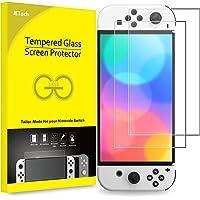 JETech Panzerglas Kompatibel mit Nintendo Switch (OLED-Modell) 7 Zoll 2021 Veröffentlichung, Gehärtete Glasfolie…