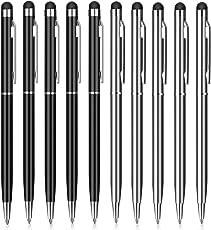 Eingabestift, PROKING 10 Stück Kapazitive Stylus und Kugelschreiber 2 in 1 Stylus für Touch Screens Geräte, Stylus Stifte für iPad, iPhone, Kindle, Samsung, HTC, Tablets und andere Touchscreens(5Schwarz,5Silber)