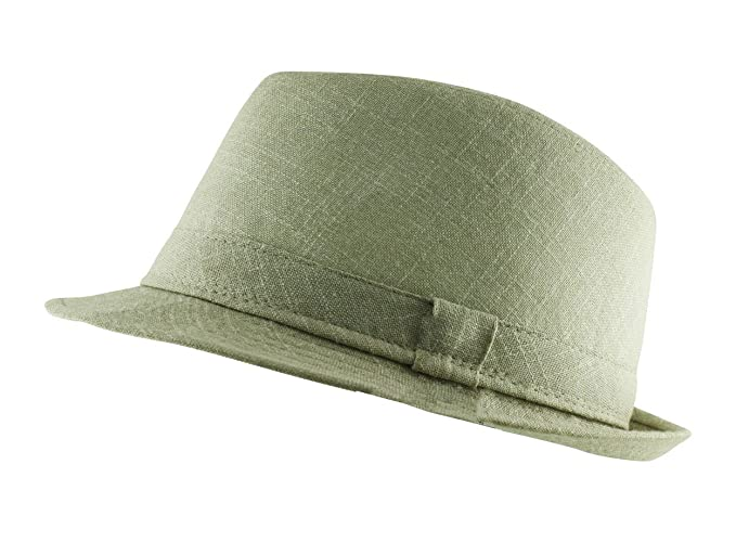 d72db7a3a2 Itzu Mens Trilby Fedora Summer Hat with Band in Natural Beige, Light ...