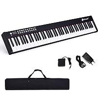 DREAMADE Pianoforte Elettronico Professionale con 88 Tasti Pesati, Tastiera Portatile con Custodia, Interfacce Diverse e…
