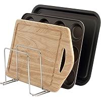 Bloomsbury Mill Support plats de four, plateaux et planches à découper–range-casseroles–Organiseur de cuisine–Chrome