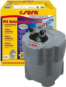 sera fil bioactive UV ein Außenfilter bzw. Algenvernichter der Keime, Parasiten & Algen auf physikalische Weise mit integrierten 5 W UV-C reduziert & sofort biologisch aktiv mit siporax fürs Aquarium