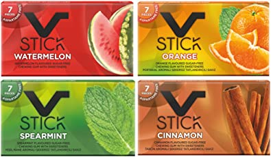 vstick Watermelon, Orange, Cinnamon and Spearmint Chewing Gum