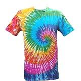 Tie Dye Rainbow Spiral 701562Unisex–Bambini Kids t-shirt