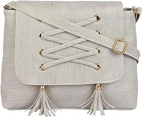 Ritupal collection Women's Shoulder, Sling, Handbag PU (Grey)