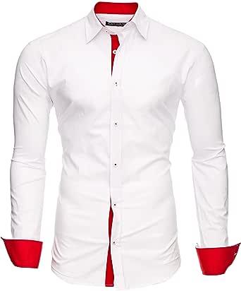 Kayhan Originale Uomo Camicia Slim Fit Facile Stiro Cotone Maniche Lungo S M L XL XXL 2XL - 6XL Modello Twoface