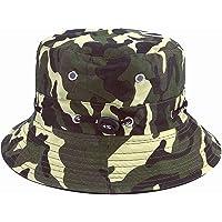 Generi Cappello da Pescatore Cappello da Pesca 56-58 cm Tessuto Morbido in Cotone e Poliestere Cappellino Parasole Largo…