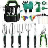 Anykuu Ensemble d'outils de Jardinage 43pcs Outils de Jardin en Aluminium avec Kit de Jardinage Robuste en Caoutchouc Souple