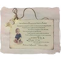 Targa regalo in legno personalizzata con foto per Madrina e Padrino di Battesimo o Cresima - Idea regalo