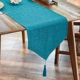 Balcony&Falcon Chemin de table moderne, aspect lin, lavable, élégant nappe de décoration de la table, pour l'intérieur et l'e