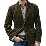 HOOUDO Men Blazer,Autumn Winter Sale ClassicFormal VintageCorduroy Warm Single-Breasted Pocket Suits Tuxedo Jackets Coat