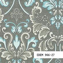muestra de papel pintado edem serie barroco damasco ornamento relieve xx
