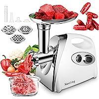 Nestling® Hachoir à viande, Hachoir à viande électrique en acier inoxydable, Machine à Saucisse Pour Saucisses, Appareil…