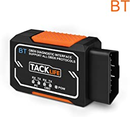 Tacklife AOBD1B OBD2 Auto-Diagnose-Scanner, OBDII/-Fehler-Code-Ausleser für KFZ, DTC/Android & Windows mit Bluetooth, Fahrzeuge, OBD2