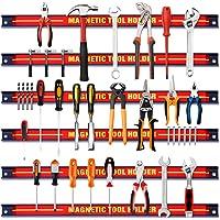 DREAMADE Lot de 6 Barres Magnétiques,Support Porte-outils Magnétiques Muraux en Acier,Charge Chacune Maximale 10KG pour…