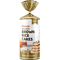 Pintola Organic Wholegrain Brown Rice Cakes (All Natural, Unsalted) (Pack of 1)