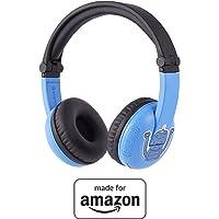 BuddyPhones PlayTime - Nuove cuffie Bluetooth Made for Amazon, per bambini da 3 a 7 anni, blu