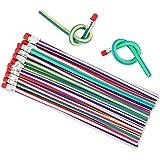 Locisne 35 stuks zachte flexibele Bendy potloden, magische Bend potloden voor kinderen, schoolplezier, klaslokalen, prijzen,