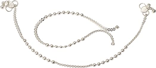 Fashion World Stunning Silver Payal Anklet for Girls & Women