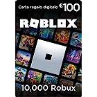 Carta Regalo Roblox - 10,000 Robux [Include un oggetto virtuale esclusivo] [Codice di gioco online]