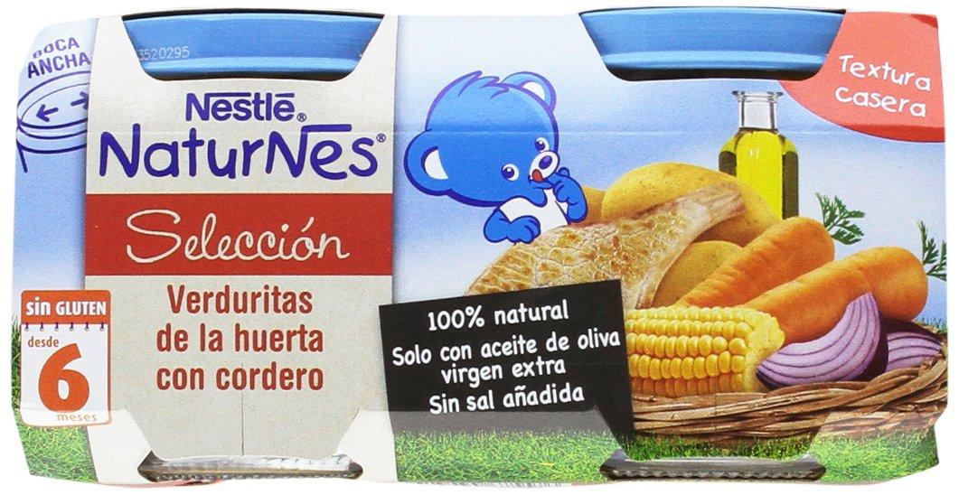 Nestlé Naturnes Verduras con Cordero - Paquete de 5 x 2 unidades de 200 g - Total: 2 kg