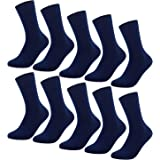 YouShow Calcetines Hombre Mujer Calcetines de Algodón Unisex 5 10 Pares Negro Ejecutivos Confort