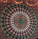 RAAJSEE Indisch Psychedelic Wandteppich Mandala Blau Rosa,Elefant Boho Wandtuch Hippie,Mehrfarbige Wandbehang Mandala Decke Tuch,groß indien baumwolle Bohemian Wandtucher Mandala,Weihnachten Geschenk