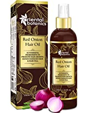 Oriental Botanics Red Onion Hair Growth Oil, 200ml - With Argan Oil, Castor, Bhringraj, Almond, 30 Oils & Extracts - Repairs Damaged Hair (No Mineral Oil)