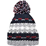 Hari Deals Boys Windproof Winter Chunky Knit Pom Pom Thinsulate Beanie Bobble Hat