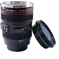 FUNLAVIE Mug Objectif Original et Magique Thermos café en Forme d'objectif Photo en Acier INOX Lot de 1 Vente