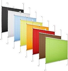 Grandekor *AKTIONSPREIS* Plissee Klemmfix Fenster 50 cm Plissee Rollo Sonnenschutz Ohne Bohren