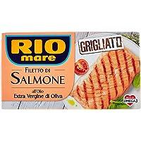 Rio Mare - Filetto di Salmone Grigliato con Olio Extravergine di Oliva, Ricco di Omega 3, 1 Confezione da 125 g
