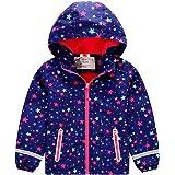 G-Kids Chaqueta con capucha para niños y niñas, cálida, forrada, chaqueta de entretiempo, impermeable, con estampado de estre