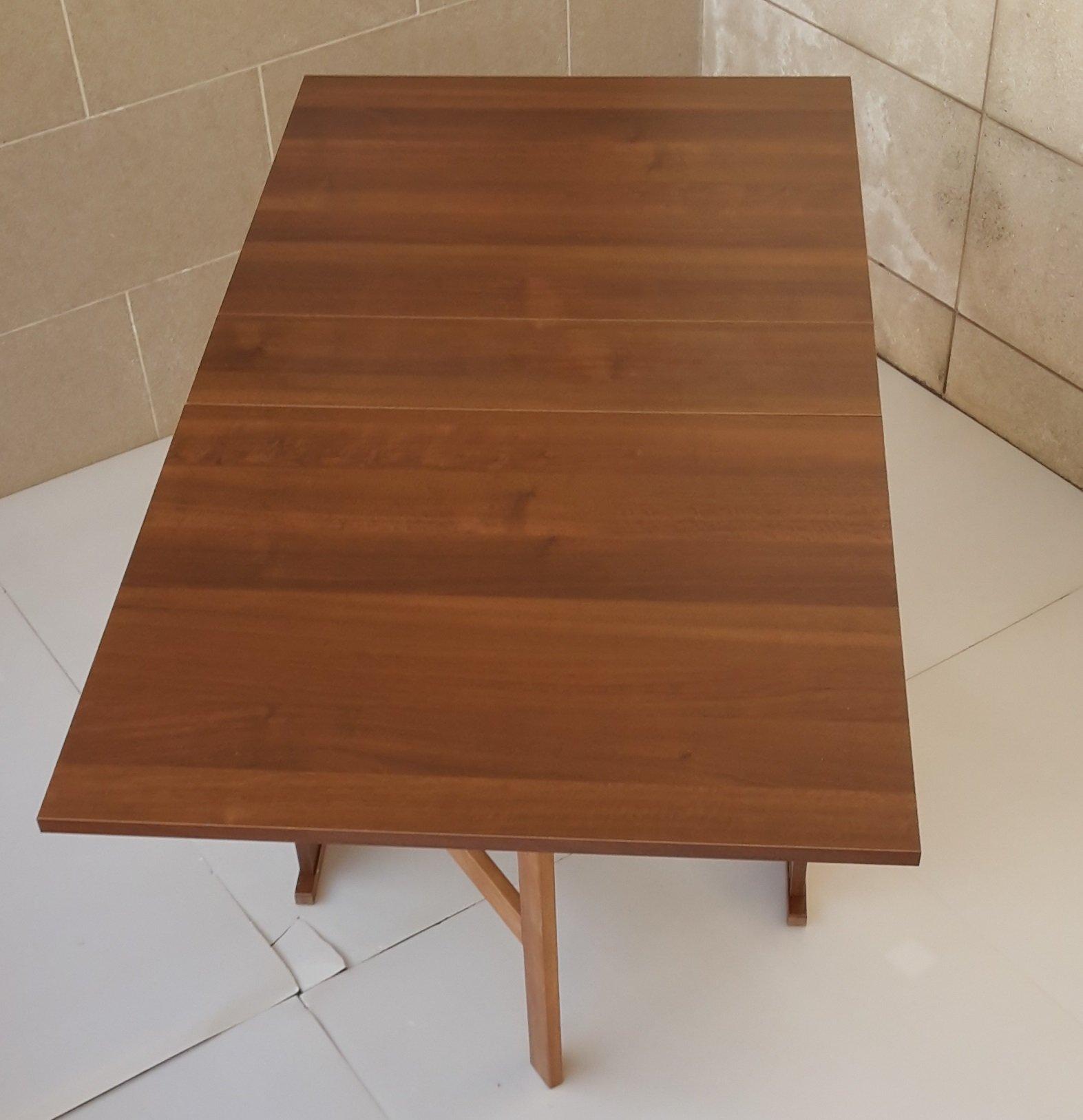 Frams tavolo susanna a consolle richiudibile noce - Tavolo richiudibile ...