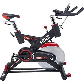 FYTTER RIDER RI-08R. Bicicleta de spinning semi-profesional con 24 Kg de Rueda de Inercia. Display Bluetooh compatible con APP iOS-Android (iBiking+). Consigue una motivación 100% !!!