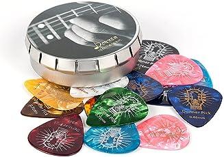 Donner Celluloid Gitarren Plektren Gitarren Picks 0.46-1.20mm 4 verschiedene Stärke 16 Stück