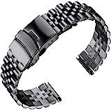 BINLUN Bracelets de Montres en Acier Inoxydable 18mm 20mm 22mm 24mm 26mm Bracelet Montre Remplacement Dégagement Rapide pour
