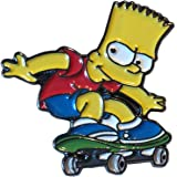 Spilla in metallo smaltato Bart Simpson (cartone animato Simpson) (25 mm)