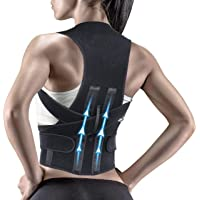 Krim Back Brace Posture Corrector Double Metallic Plate Back Support Belt for Lower and Upper Back men for women