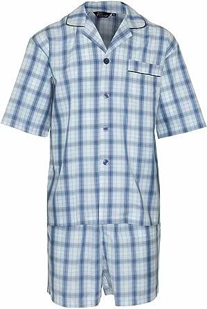 Champion Mens Polycotton Short Pyjama Lounge Wear Set M Blue