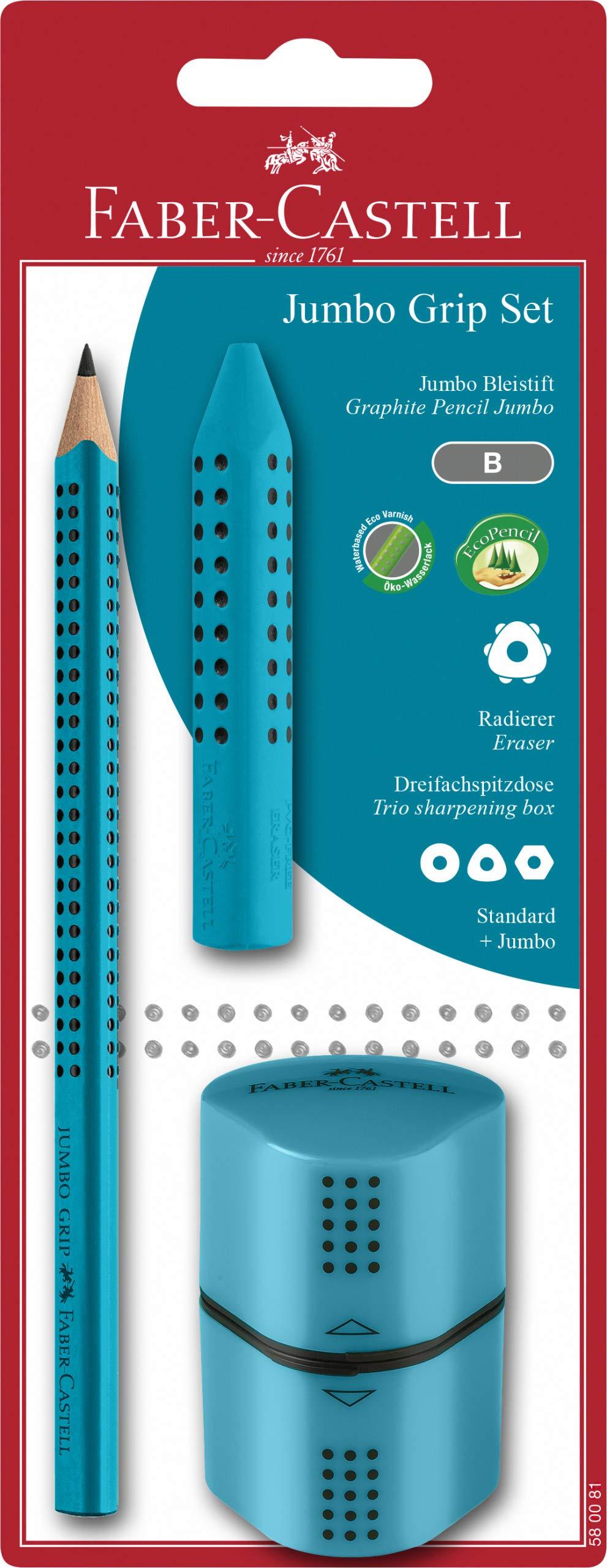2x Faber-Castell Set Grip 2001 2 Radierer!NEU 4 Bleistifte Grip 2001 HB OVP