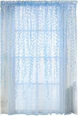 Zibuyu Pastoral Style Willow Floral Window Curtain Bedroom Living Room Decor