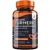 Curcuma Bio 1440 mg con Piperina e Zenzero - 180 Capsule di Curcuma e Piperina Vegana ad Alto Dosaggio (Fornitura per 3 Mesi)