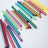 Qiwenr 100 Stks Gekleurde Hot Melt Lijm Sticks,7 * 100 MM Draadloze Hot Lijm Gun Standaard Lijm Sticks, voor DIY Ambachten Th