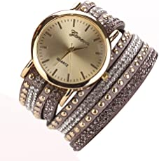 Rrimin 8 Colors Luxury Casual Wristwatch Watch Women Dress Watch Gray