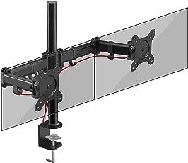 Duronic DM252 Monitorhalterung/Tischhalterung / Bildschirmhalterung/Monitorständer für Zwei LCD/LED Computer Bildschirme/Fernsehgeräte mit Neig und Rotierfunktion