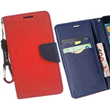 Majesty Strap Flip Cover for HTC Desire 628 Dual Sim - Red