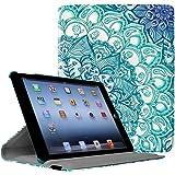 Fintie Hülle für iPad 2 / iPad 3/ iPad 4-360 Grad verstellbare Schutzhülle Cover mit Standfunktion, Auto Sleep/Wake für iPad mit Retina Display (iPad 4. Generation), iPad 3 & iPad 2, smaragdblau