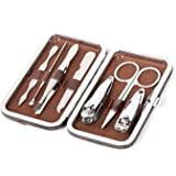 Angelie Secrets Manicure Pedicure Set Nail Clippers Stainless Steel Luxury Nail Grooming Set Professional Nail Scissors Groom